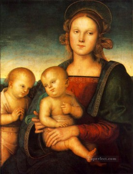Madonna with Child and Little St John 1497 Renaissance Pietro Perugino Oil Paintings
