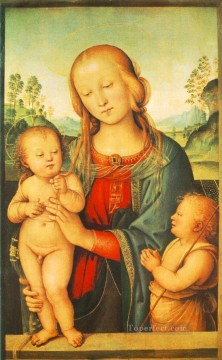Madonna with Child and Little St John 1505 Renaissance Pietro Perugino Oil Paintings