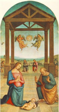 St Augustin Polyptych The Presepio Renaissance Pietro Perugino Oil Paintings