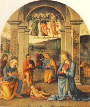 The Presepio 1498 Renaissance Pietro Perugino Oil Paintings
