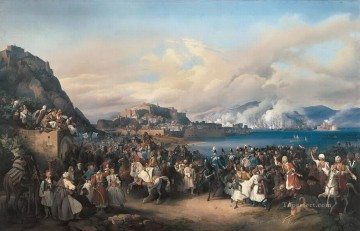 Entry Painting - The Entry of King Othon of Greece into Nauplia Peter von Hess historic war