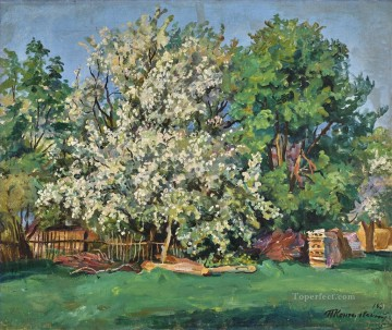 Petr Petrovich Konchalovsky Painting - APPLE TREE IN BLOOM Petr Petrovich Konchalovsky