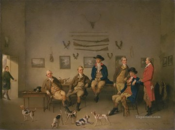 row - Members of the Carrow Abbey Hunt Philip Reinagle