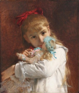 Pierre Auguste Cot Painting - a new doll Academic Classicism Pierre Auguste Cot