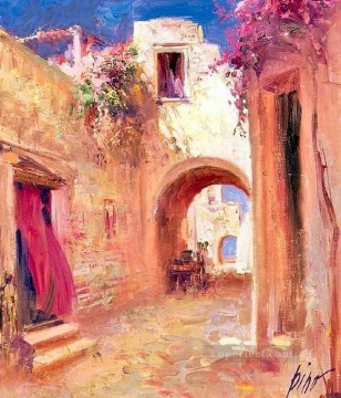 Pino Daeni Painting - Village Views Pino Daeni