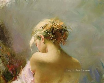 Pino Canvas - Desire Suite lady painter Pino Daeni