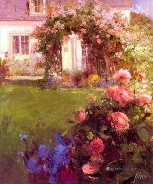 Garden Pino Daeni Oil Paintings