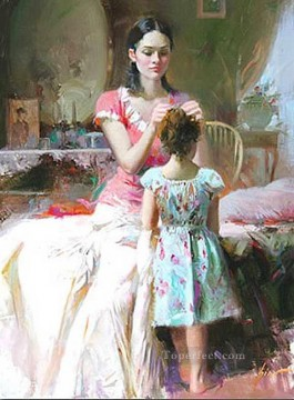 Hairpin Pino Daeni Oil Paintings