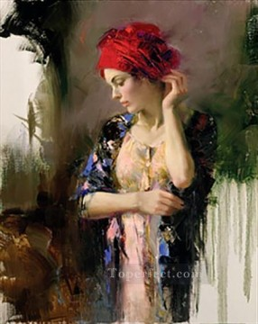 Pino Canvas - Harmony Suite lady painter Pino Daeni