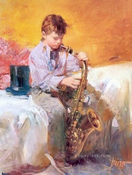 Pino Daeni Painting - Little Player Pino Daeni