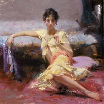 Parisian Works - Parisian Girl lady painter Pino Daeni
