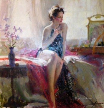 Pino Daeni Morning Romance Oil Paintings