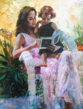 Daeni Painting - Pino Daeni Sharing Moments