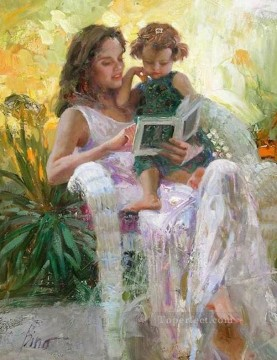 Reading Pino Daeni Oil Paintings