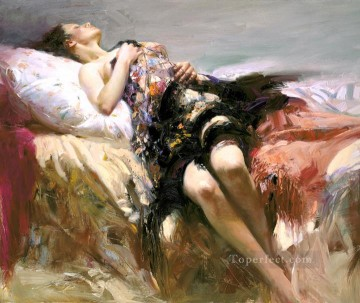 Pino Canvas - Sensuality lady painter Pino Daeni