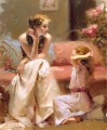Thinking of You lady painter Pino Daeni