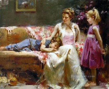 Pino Canvas - A Time To Remember lady painter Pino Daeni