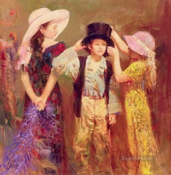 Ladies and Gentleman Pino Daeni Oil Paintings