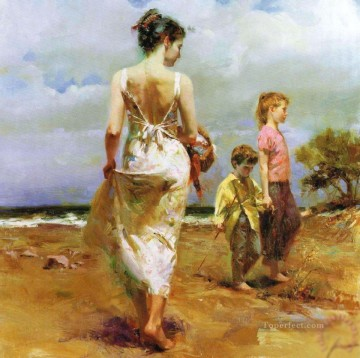 Pino Daeni Painting - Mediterranean Breeze lady painter Pino Daeni