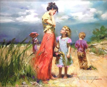 Pino Canvas - Remember When lady painter Pino Daeni