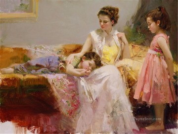 Watching Pino Daeni Oil Paintings