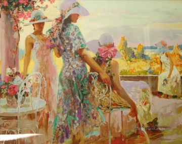 Pino Daeni Painting - Pino Daeni At The Balcony