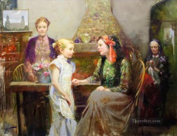 Pino Daeni Painting - Pino Daeni Generations of Faith