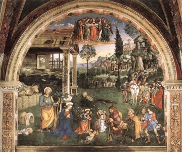 Pinturicchio Oil Painting - Adoration Of The Child Renaissance Pinturicchio