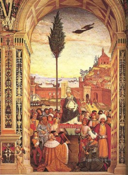 Aeneas Piccolomini Arrives To Ancona Renaissance Pinturicchio Oil Paintings