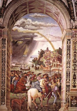 Pinturicchio Painting - Aeneas Piccolomini Leaves For The Council Of Basle Renaissance Pinturicchio