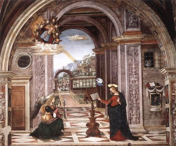 Annunciation Renaissance Pinturicchio Oil Paintings