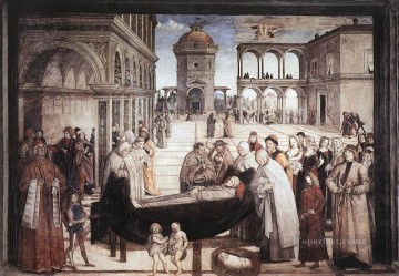 Death Of St Bernadine Renaissance Pinturicchio Oil Paintings