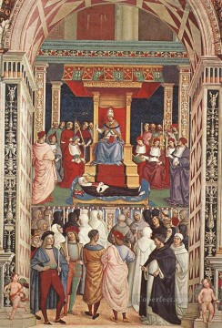 Pope Aeneas Piccolomini Canonizes Catherine Of Siena Renaissance Pinturicchio Oil Paintings