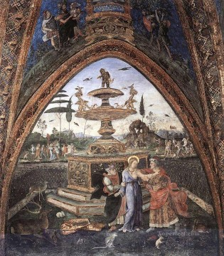Pinturicchio Oil Painting - Susanna And The Elders Renaissance Pinturicchio