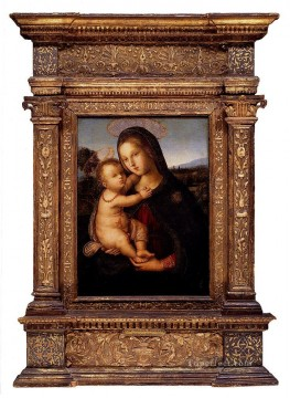 Pinturicchio Oil Painting - Di Betto The Madonna And Child Before A Landscape Renaissance Pinturicchio