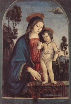 Pinturicchio Oil Painting - The Virgin And Child Renaissance Pinturicchio