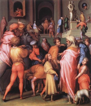 Joseph Being Sold To Potiphar portraitist Florentine Mannerism Jacopo da Pontormo Oil Paintings