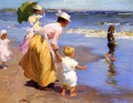 At the Beach Impressionist beach Edward Henry Potthast