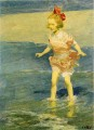 In the Surf Impressionist beach Edward Henry Potthast