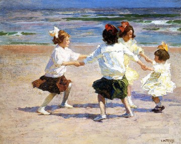 beach Art - Ring around the Rosy Impressionist beach Edward Henry Potthast
