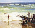 Bathers by the Shore Impressionist beach Edward Henry Potthast