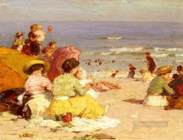 Beach Scene 2 Impressionist Edward Henry Potthast Oil Paintings