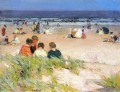 By the Shore Impressionist beach Edward Henry Potthast