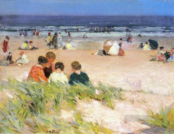 by Works - By the Shore Impressionist beach Edward Henry Potthast