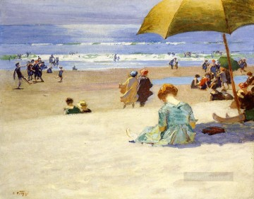 Hourtide Impressionist beach Edward Henry Potthast Oil Paintings