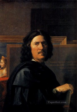 portrait - Nicolas Self Portrait classical painter Nicolas Poussin