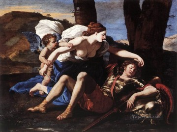 classical art - Rinaldo and Armida classical painter Nicolas Poussin