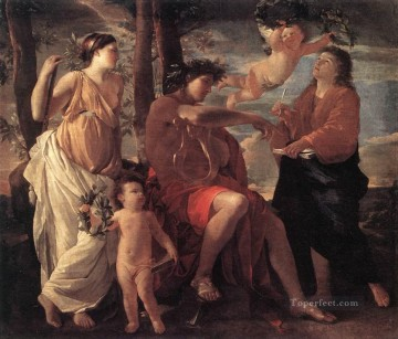 classical art - Inspiration of the poet classical painter Nicolas Poussin