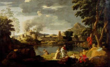 classical art - Nicolas Landscape With Orpheus And Eurydice classical painter Nicolas Poussin