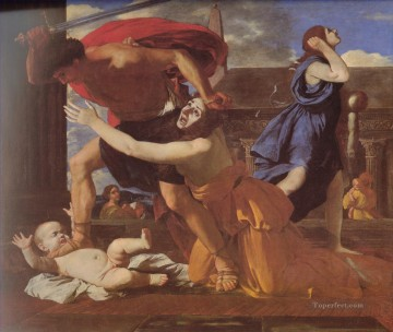 classical Painting - The Massacre of the Innocents classical painter Nicolas Poussin